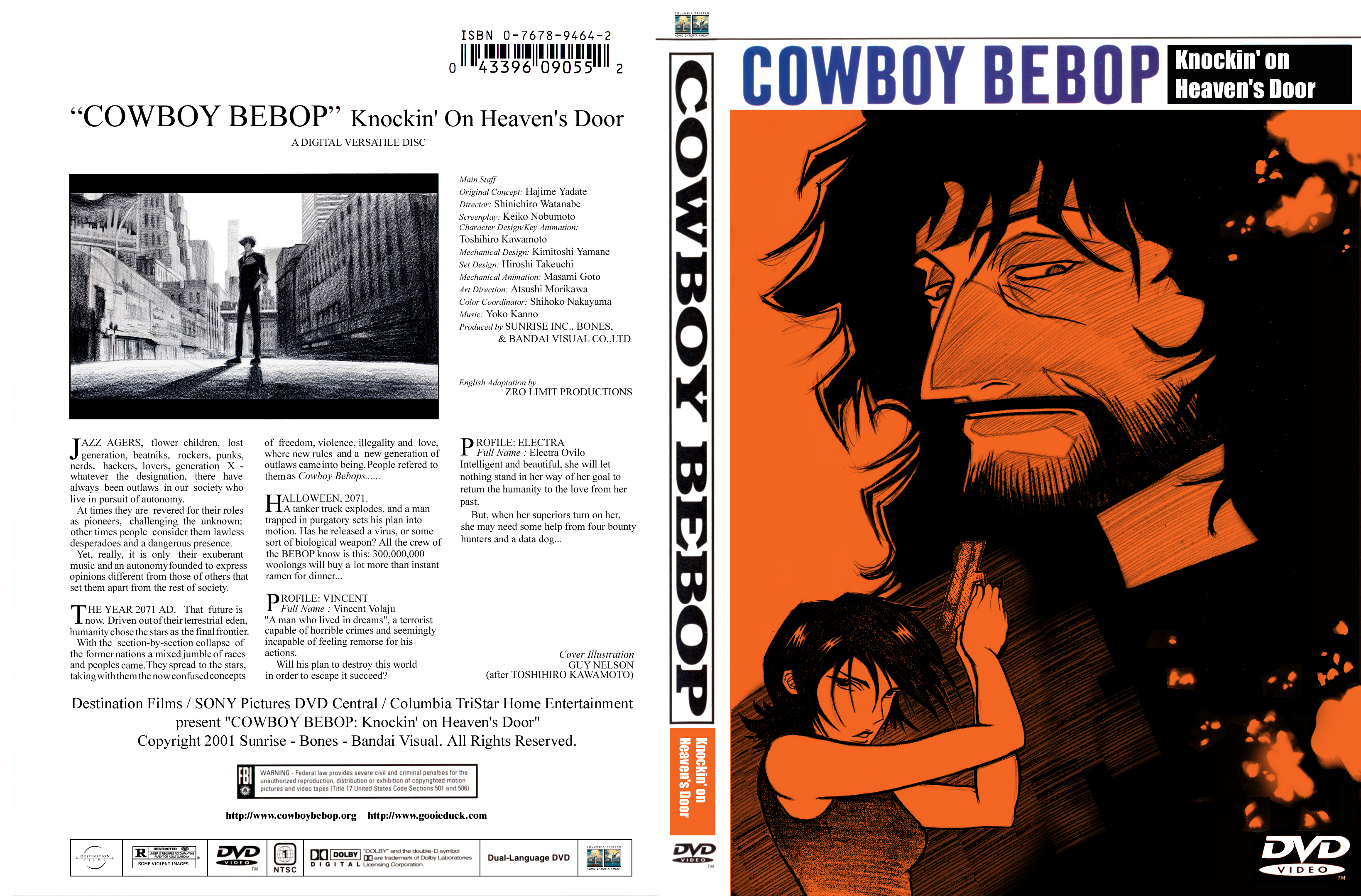 guy nelsons cowboy bebop kohd dvd bluray cover